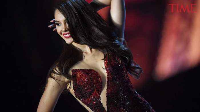 You Probably Missed the Hidden Inspiration Behind Miss Philippines' Vibrant Red Gown