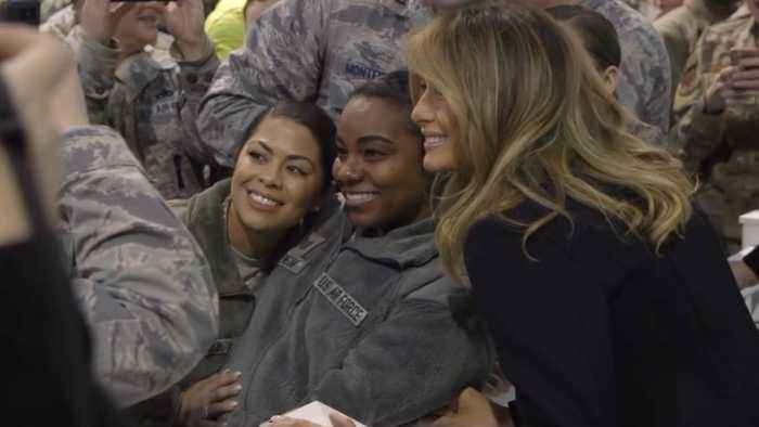 Melania Trump Stuns With Military Visit And Trip To Aircraft Carrier
