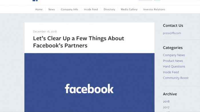Facebook says users knew of tech firms' data access