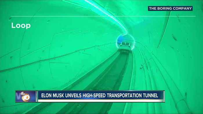 Elon Musk unveils transportation tunnel in Los Angeles