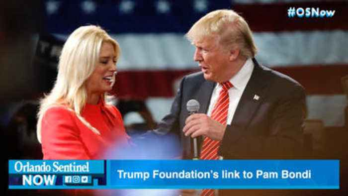 Trump 'illegal' charity closes. It's fall started with $25,000 given to Pam Bondi