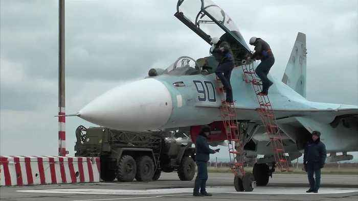 Russian fighter jets land in Crimea amid Ukraine - One ...