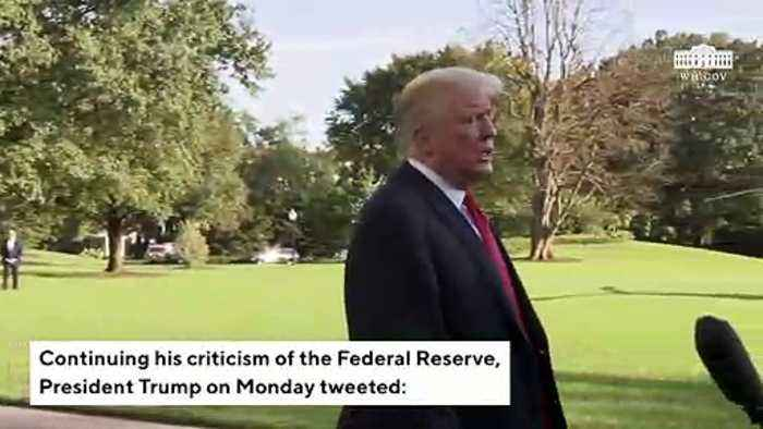 Trump Again Lashes Out At Federal Reserve: US Economy's 'Only Problem'