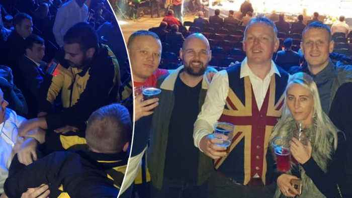 Boxing Fan Ejected In Row Over UNION JACK Waistcoat