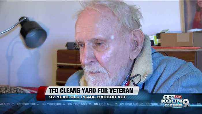 Tucson Fire does yard work for Pearl Harbor veteran