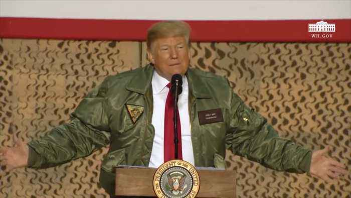 President Trump Goes All The Way To Iraq To Argue Over Border Wall