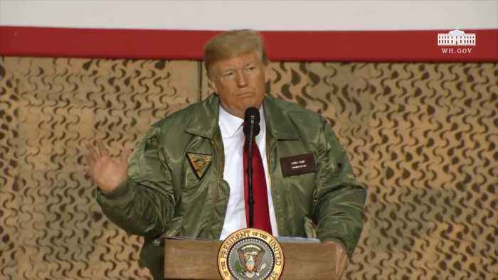 Trump Whips Up The Troops For MAGA In Iraq