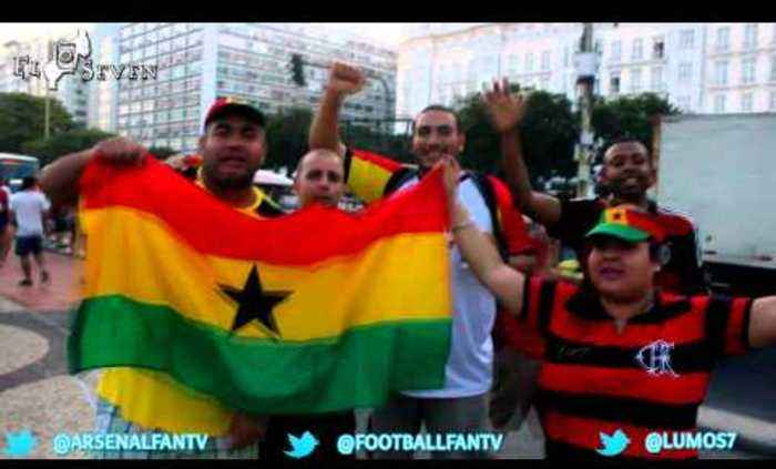World Cup Diary Of Brazil - Brazilian Fans Get Supporting Ghana