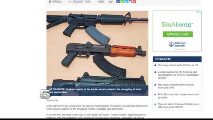 7 Mexican Officials Charged for Smuggling Weapons from US