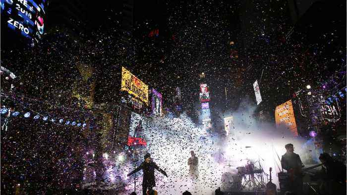 New Year's Eve In Times Square To Celebrate The Press