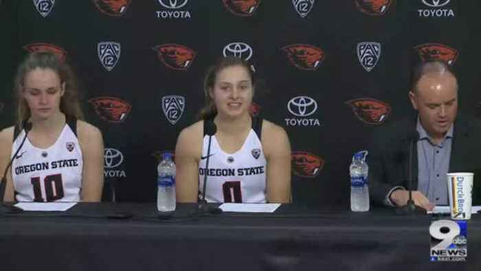 Web Extra: Oregon State women's basketball after Cal State Bakersfield win  (12/29/18)