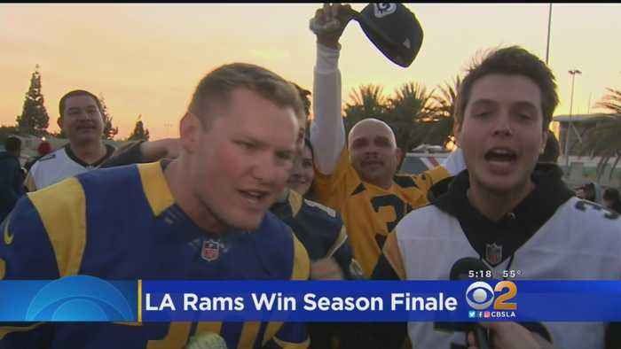 LA Rams Fans Celebrate Season Finale Win