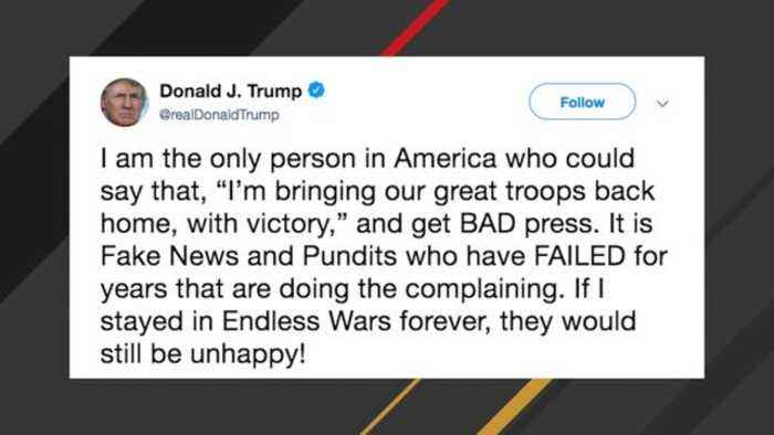 Trump: I'm The Only Person In America Who'd Get 'Bad Press' For Bringing Troops Home