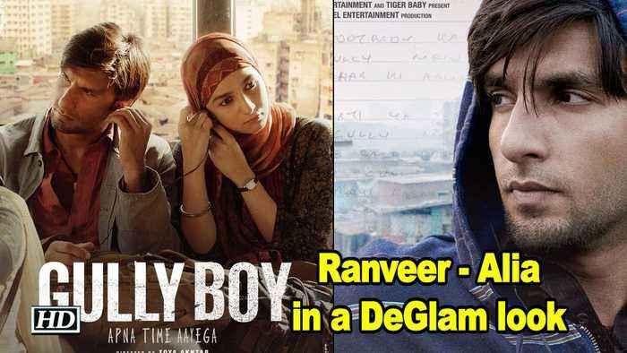 Ranveer - Alia in a DeGlam look | First Poster of Gully Boy OUT!