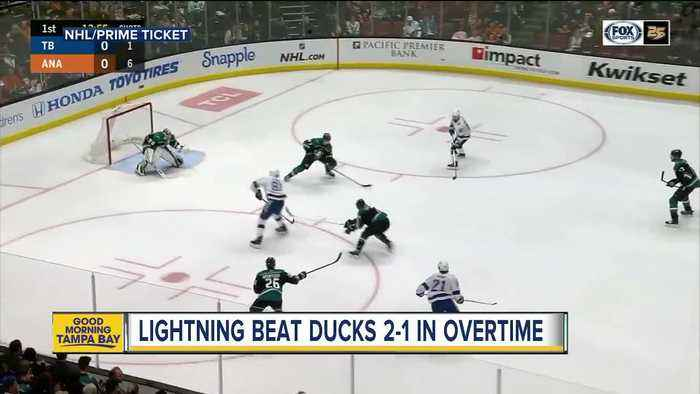 Tampa Bay Lightning finish December unbeaten with 2-1 overtime win at Anaheim