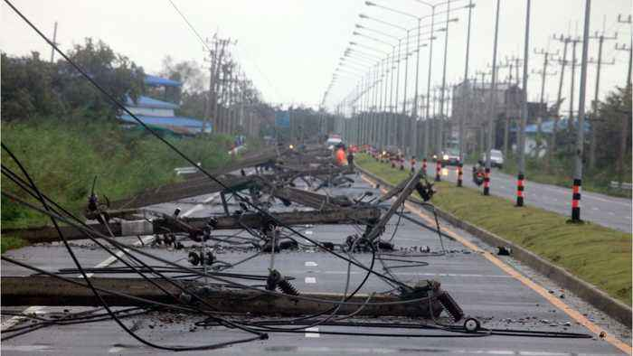 Tropical Storm In Thailand Uproots Trees Blows One News