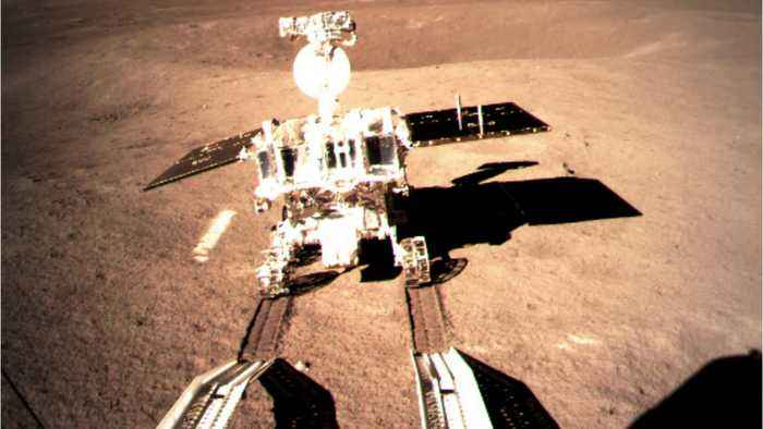 China's Rover Makes Tracks On Far Side Of The Moon In First Historic Steps