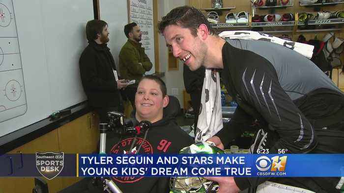 Young Hockey Fan From Ottawa Gets To Meet One Of His Favorite Players In Dallas
