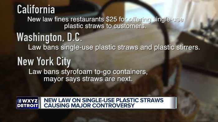 New law on single-use plastic straws causes a major controversy