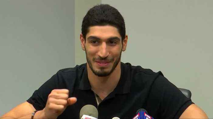 Turkish NBA player Enes Kanter won't go to London for game because he fears he could be killed