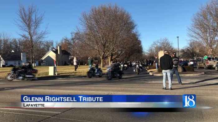 Glenn Rightsell laid to rest with motorcycle tribute