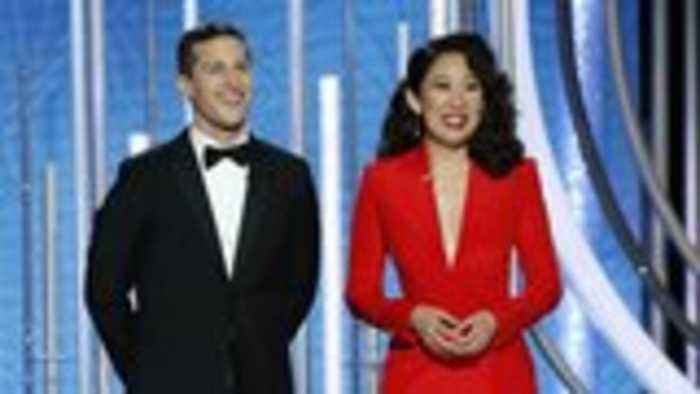 Andy Samberg and Sandra Oh Kick Off Golden Globes With Friendly Roast | THR News