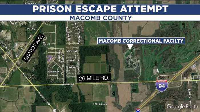 Inmates use makeshift dummies to attempt a prison escape from Macomb Correctional Facility in New Haven