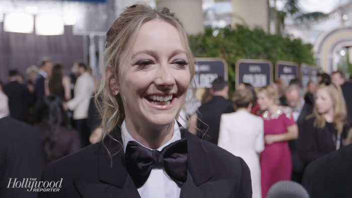 Judy Greer Roots for Jim Carrey and 'Kidding' | Golden Globes 2019