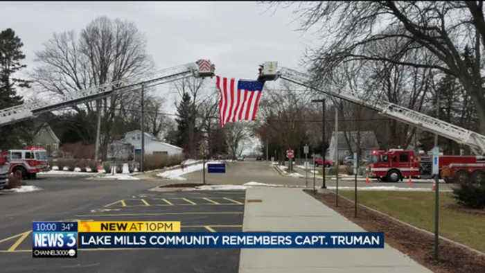 'Gone too soon': Lake Mills firefighters, friends and family honor Capt. Truman during funeral