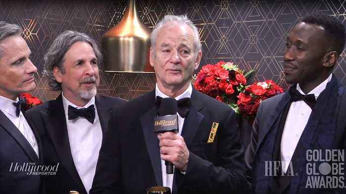 Bill Murray Crashes 'Green Book' Winners Backstage Interview | Golden Globes 2019