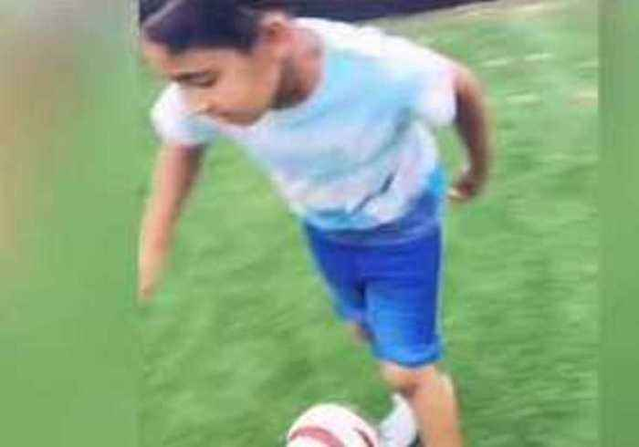 In A League of His Own: Visually Impaired 8-Year-Old Shows Off His Soccer Skills