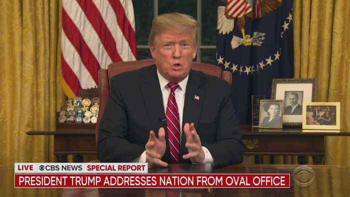 President Trump Discusses Border Security In Oval Office Speech
