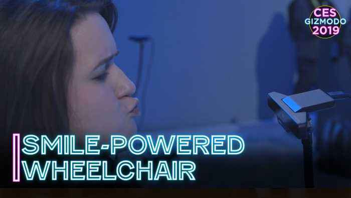 Facial Expressions Move This Wheelchair   CES 2019
