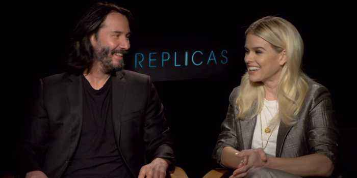Alice Eve And Keanu Reeves Sit Down For 'Replicas'