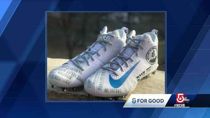 Julian Edelman's special cleats sold for $10,000 to benefit Jewish Federations