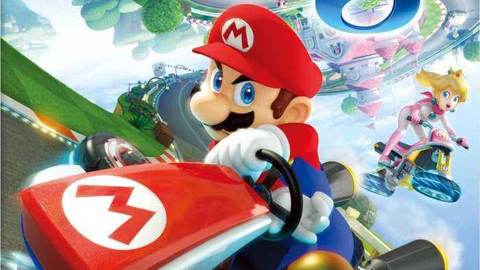 Helicopter Spots 'Mario Kart' Being Played On Jumbotron