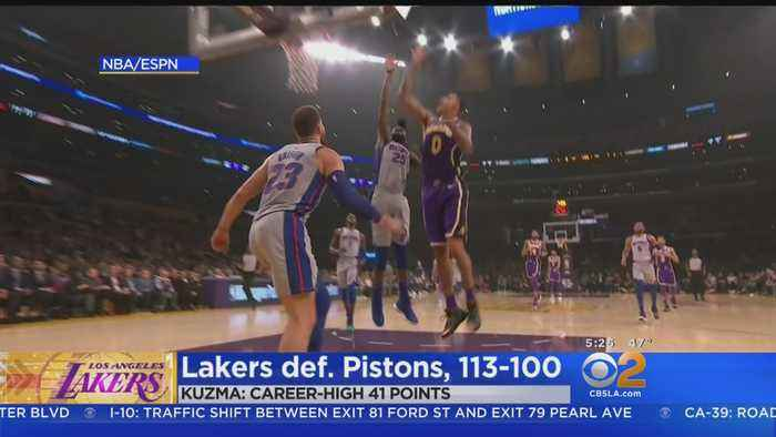 Kyle Kuzma Puts Up Career-High 41 Points In Win Over Pistons