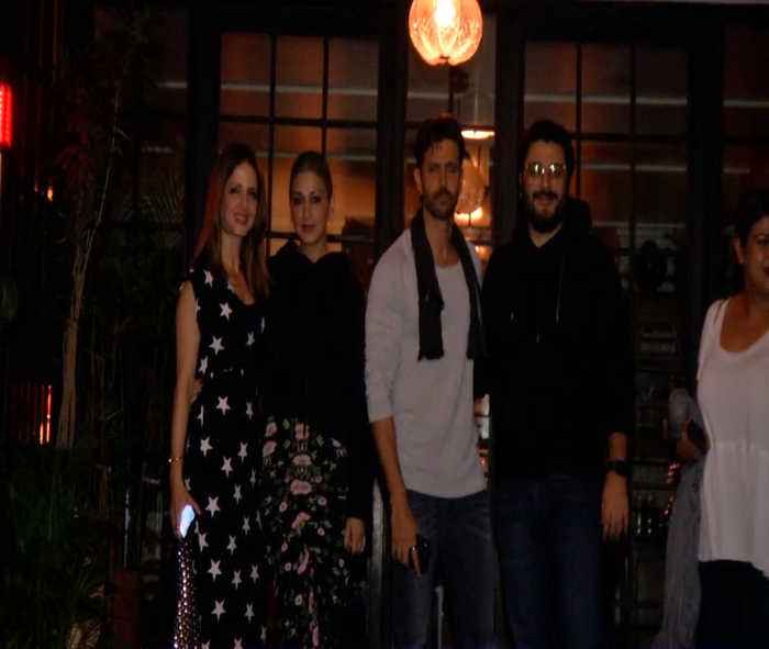 Hrithik Roshan celebrates 45th birthday with Sonali Bendre, Sussanne Khan