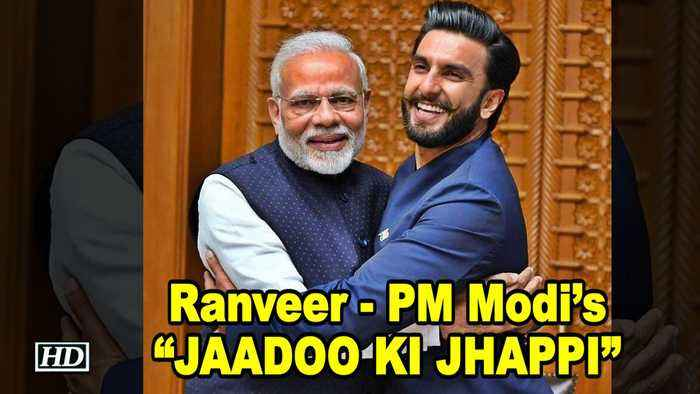 "Ranveer & PM Modi's ""JAADOO KI JHAPPI"" breaking the internet"
