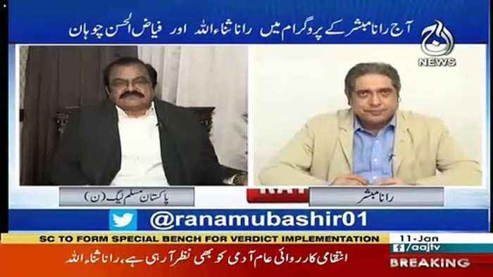 We Do Not Have Any Problem With Pakistan's Army-Rana Sanaulllah