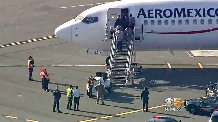 2 Detained After Aeromexico Flight Is Stuck for Hours on Oakland Tarmac