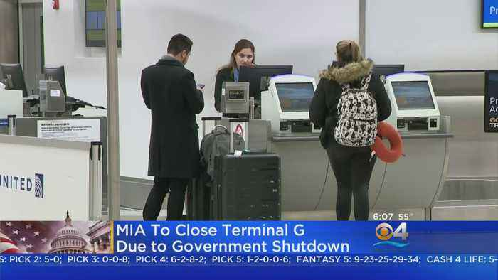 Miami International Airport Feeling Affects Of Government Shutdown