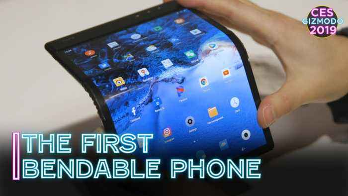 The First Bendable Phone On The Market | CES 2019
