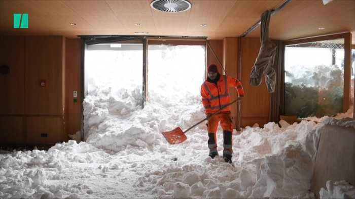 Heavy Snowfall Causes Chaos In Germany And Switzerland