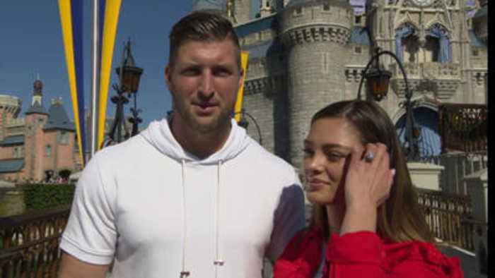 Tim Tebow and fiancee Demi-Leigh Nel-Peters at Walt Disney World
