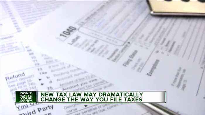 New tax law may dramatically change the way you file taxes
