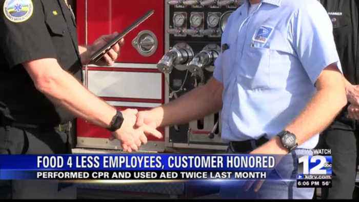 MEDFORD FIREFIGHTERS RECOGNIZE LIFE-SAVING CITIZENS