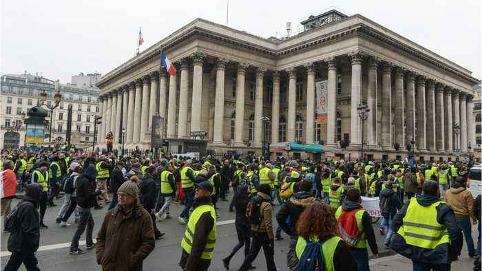 Renewed Yellow Vest Protests Hit With Police Water Cannon, Tear Gas In Paris