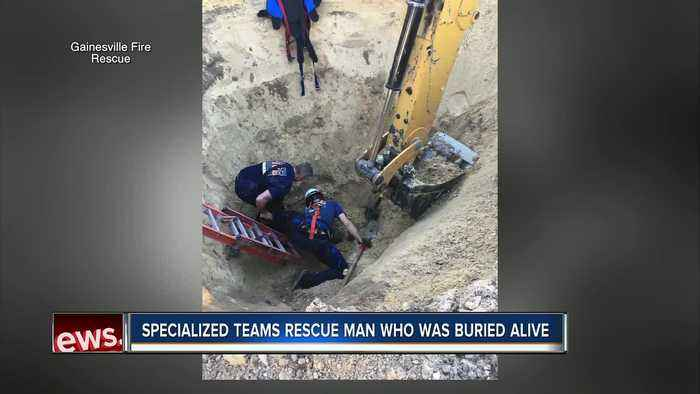 Florida construction worker survives being buried alive