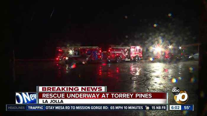 Two people rescued from cliff at Torrey Pines